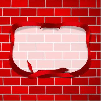 Red Brick Background Standing Photo Sculpture