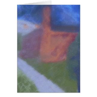 Red Brick Building, Landscape, Notecard Note Card