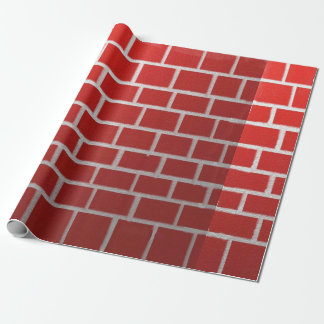 Red brick chimney look gift wrapping paper
