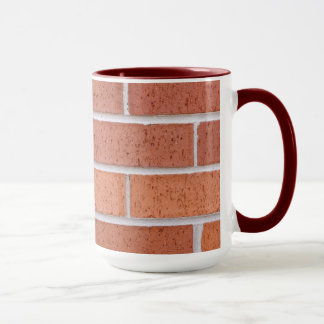 Red brick china mug