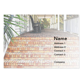 red brick clubhouse steps business card template