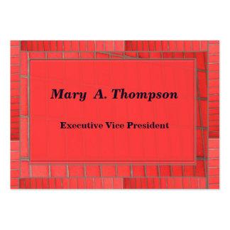 Red Brick design Business Card Templates