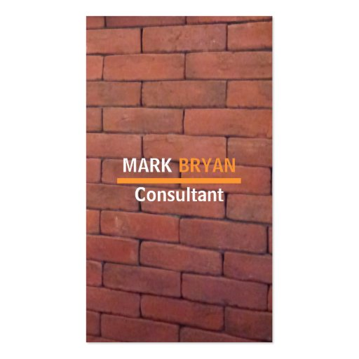 Red Brick Mason Business Cards