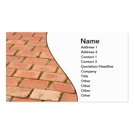 red brick path business card