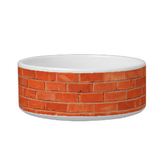 Red Brick Pattern Bowl