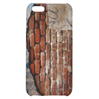 Red Brick Under Graffiti Laced Cement Wall iPhone 5C Case