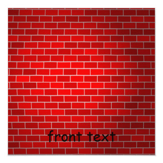 Red Brick w/Spotlight Background Card