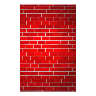 Red Brick w/Spotlight Background Stationery
