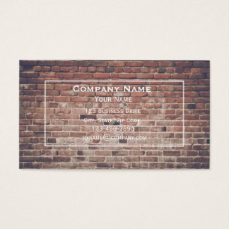 Red Brick Wall Business Card
