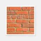 Red brick wall disposable serviette