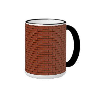 Red Brick Wall Pattern Ringer Mug