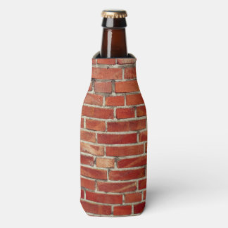 Red Brick Wall Texture Bottle Cooler