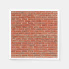 Red brick wall texture disposable napkin