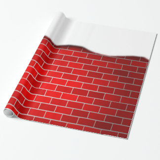 Red Brick with Snow Drift Wrapping Paper