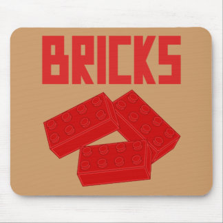 Red Bricks by Customize My Minifig Mouse Pad