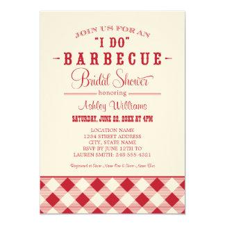 "Red Bridal Shower Invitation | ""I Do"" BBQ"