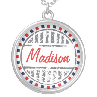 Red Bridemaid Necklace Postal Service Collection