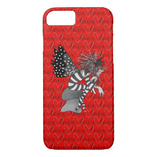 Red Bright Love Fairy Male Cartoon Cute Butterfly iPhone 7 Case