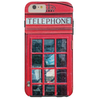 Red British Phone Booth from London Tough iPhone 6 Plus Case