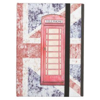 Red british phone booth iPad folio case