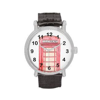 red british phone box - watches