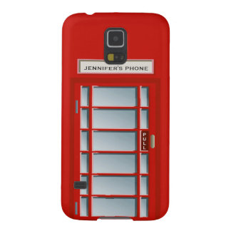 Red British Telephone Booth - Personalized Galaxy S5 Cases