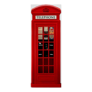 Red British Telephone Box Poster Print