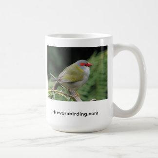 Red browed finch coffee mug