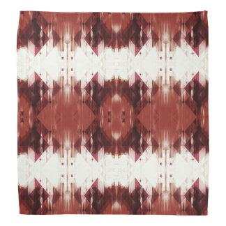 Red Brown And White Geometrical Pattern Bandana
