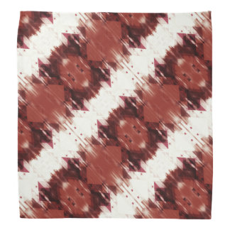 Red Brown And White Geometrical Pattern Bandana