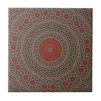 Red/brown art design tile