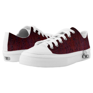 Red Brown Black Ombre Rust Metal Patina Low Tops