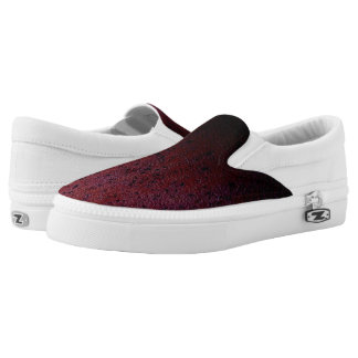 Red Brown Black Ombre Rust Metal Patina Slip On Shoes