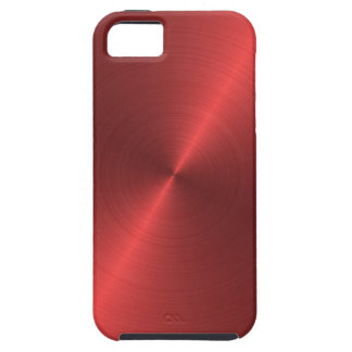 Red Brushed Metal iPhone 5 Cases