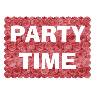 Red bubble wrap pattern card