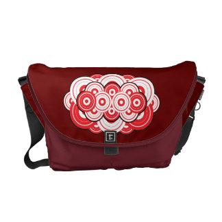 Red Bubbles Messenger Bag