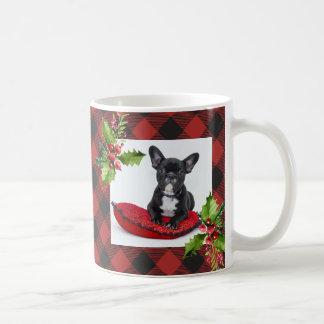 Red Buffalo Plaid Christmas Photo Coffee Mug