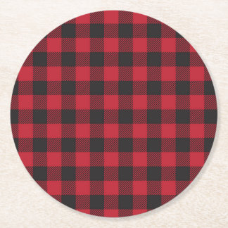Red Buffalo Plaid Coasters