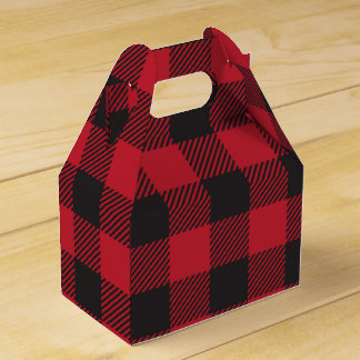 Red Buffalo Plaid Favor Box