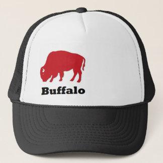 red buffalo trucker hat