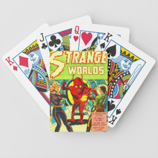 Red Bug Eyed Monster Bicycle Playing Cards