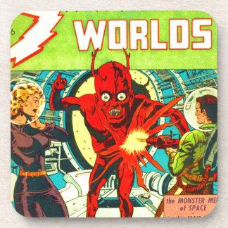 Red Bug Eyed Monster Coaster