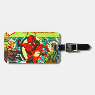 Red Bug Eyed Monster Luggage Tag