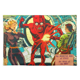 Red Bug Eyed Monster Placemat