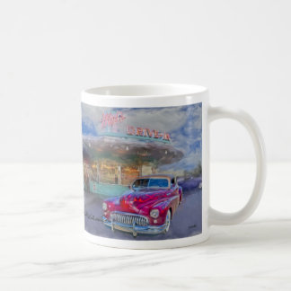 red buick at drive-in coffee mug