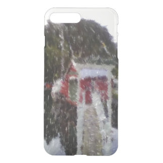 Red building by the sea iPhone 7 plus case