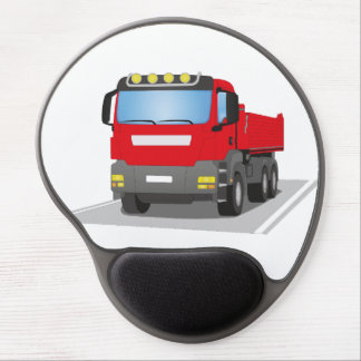 red building sites truck gel mouse pad