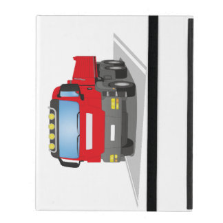 red building sites truck iPad case