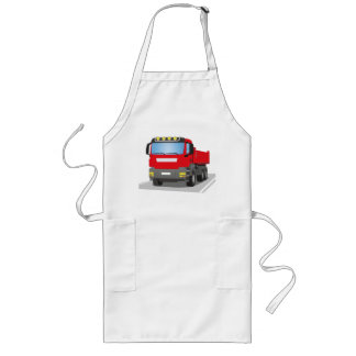 red building sites truck long apron