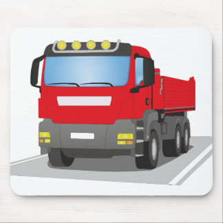 red building sites truck mouse pad
